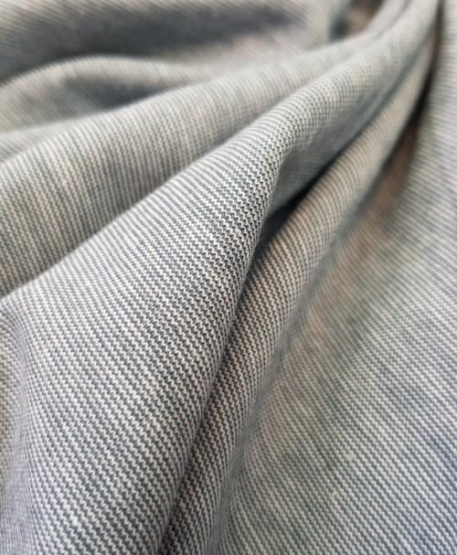 Jersey Miniringel rauchblau/weiß