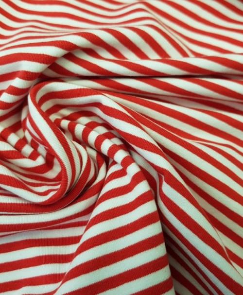 Jersey Ringel weiß/rot
