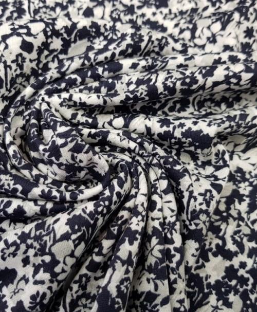 Feinjersey Mille Fleur nachtblau