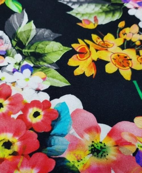 Jersey Flowers on black