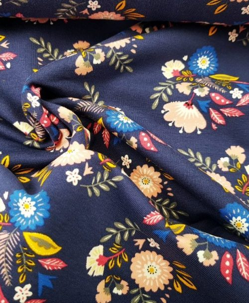 Sweat Blumen dunkelblau