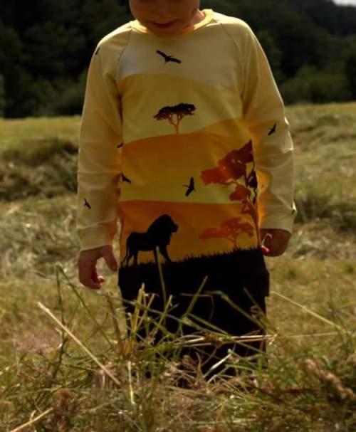 Jersey Wild Shadows by lycklig design Löwen hellgelb