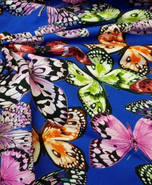 Jersey Schmetterlinge blau/lila