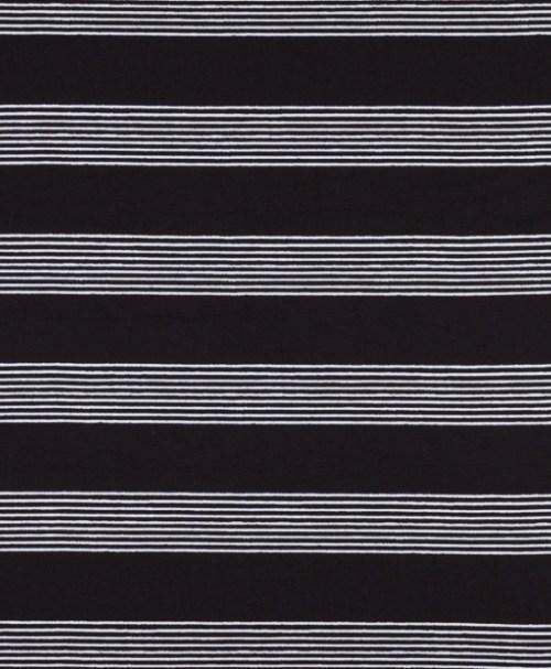 Lillestoff Jersey Basicstreifen weiß/schwarz