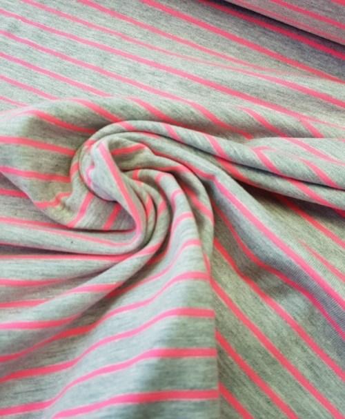 Jersey Streifen Neon pink