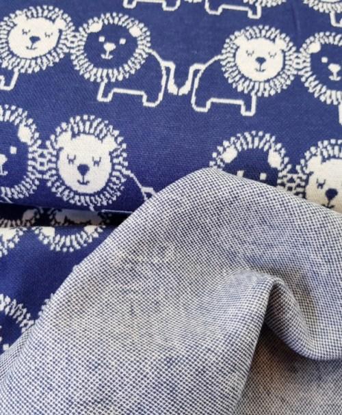 Jacquard Löwe blau