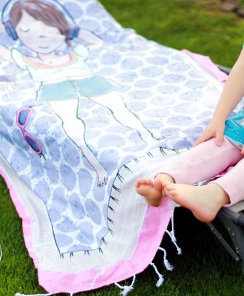 Lillestoff Summersweat Rapport Mädchen 2, Strandtuch