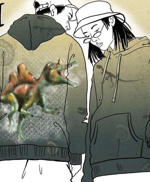 VORBESTELLUNG Lillestoff Jersey Rapport Dino 1