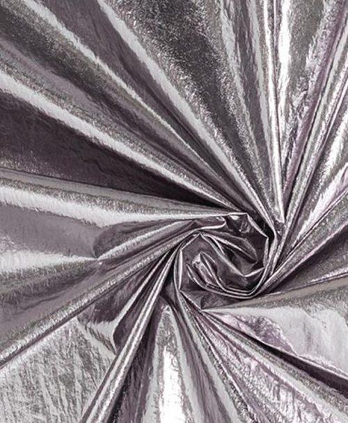 Crepe Folienstoff alt-silber