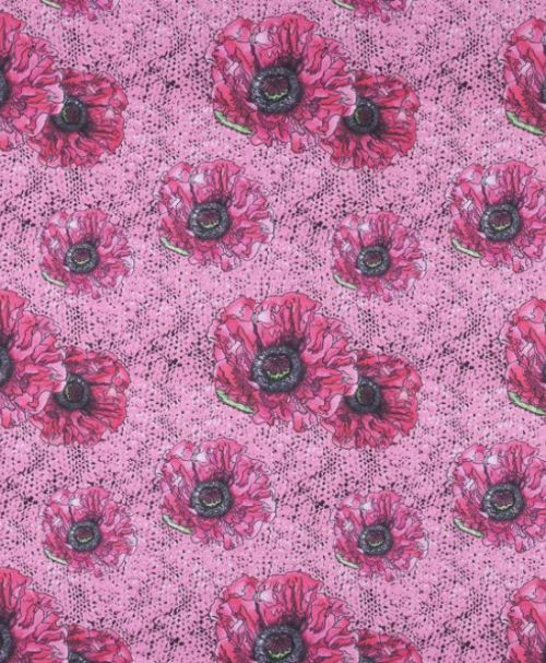 Lillestoff Modalsweat rosa Masche