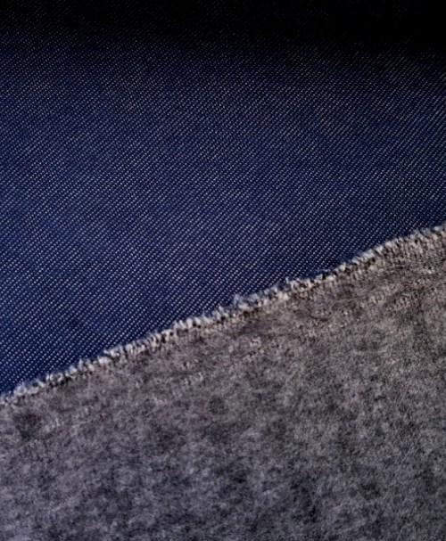 Alpenfleece Denimlook blau