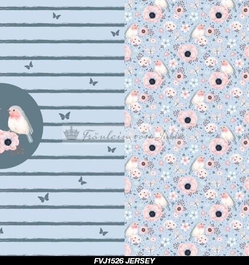 Fräulein von Julie Jersey Rapport little bird rauchblau