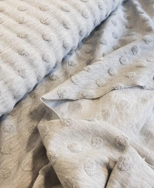 Fantasy knitwear Jacquard dots/nops light grey melange