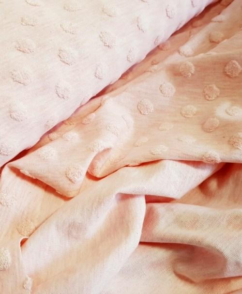 Fantasy knitwear Jacquard dots/nops salmon melange