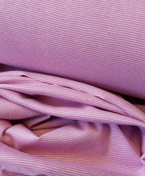 Schlauchbündchen feine Ringel rosa