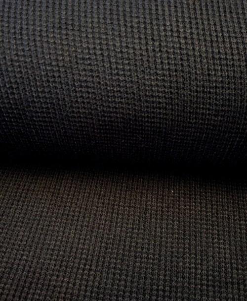 Viskose-Strick Kabel schwarz