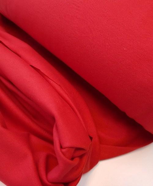 Schlauchbündchen uni Rot