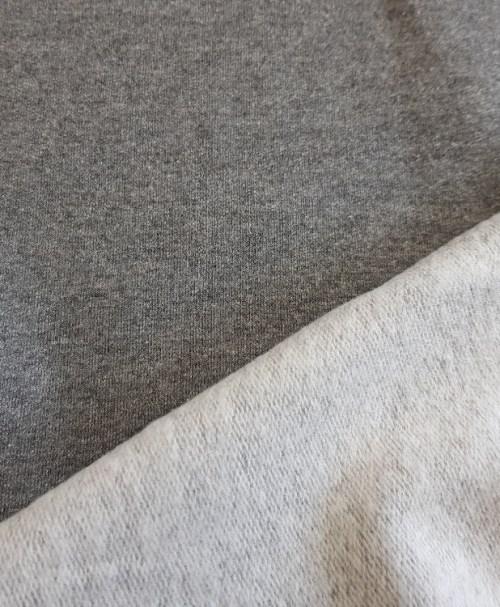 Sweatshirt meliert angeraut dunkelgrau