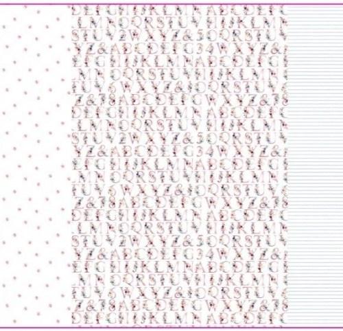 Jersey 3er-Panel la vie en rose / Mädchen mit Reh / ABC