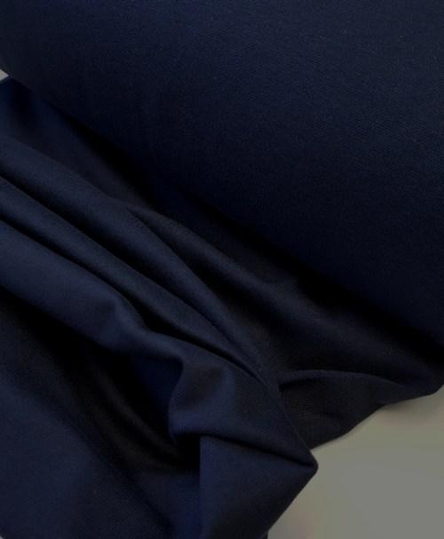 Schlauchbündchen uni nachtblau