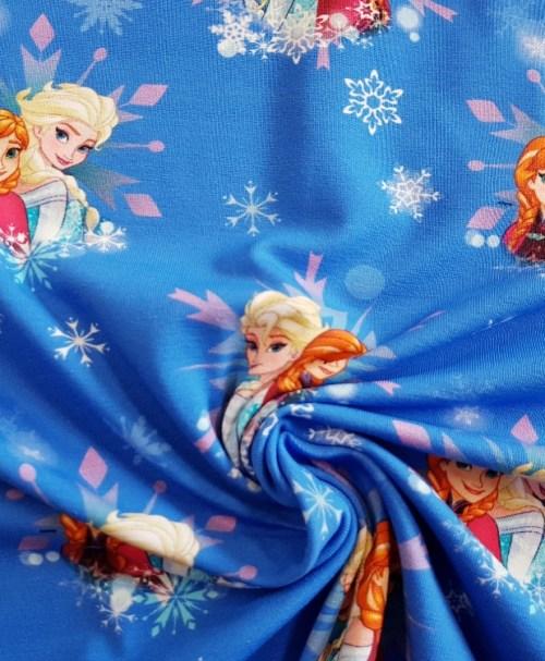 Lizenzjersey Frozen Anna Elsa Eiskristalle blau