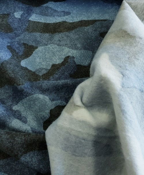 Sweatshirt Camouflage blau