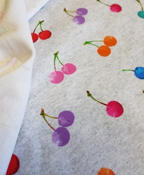 Fräulein von Julie French Terry Watercolor Cherries