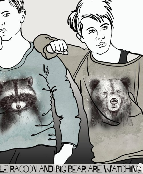 Lillestoff Summersweat Rapport Little Racoon Is Watching You