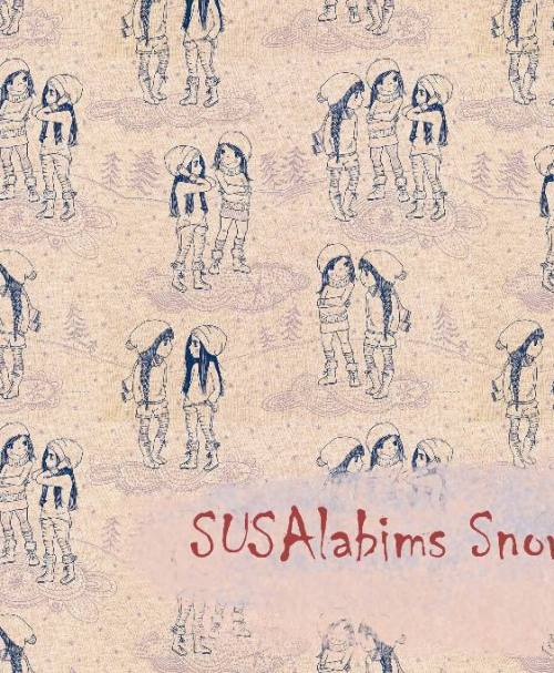 Lillestoff Summersweat Susalabims Snowgirls, beige-meliert