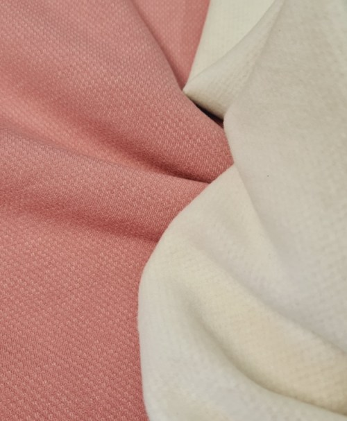 Jacquard-Sweat gebürstet, rosa