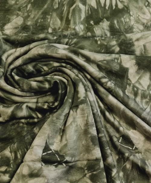 Viskose-French Terry Batik khaki