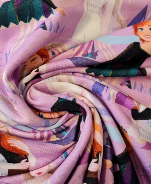 Lizenz-French Terry angeraut, Disney Frozen 2, Anna und Elsa pink