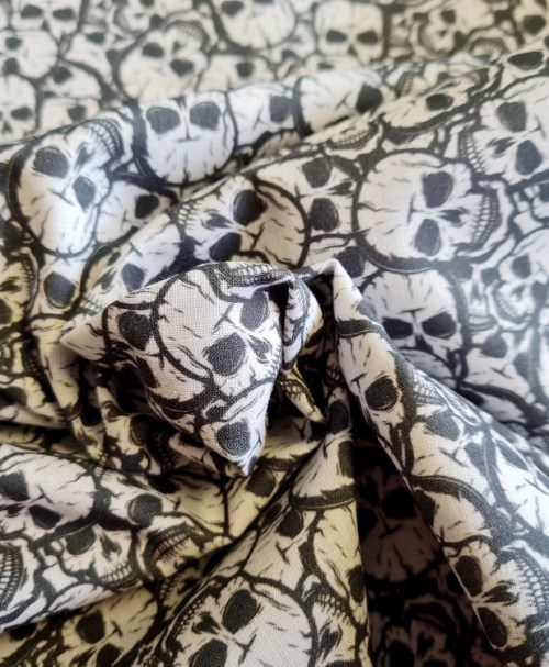 Webware Poplin – Premium Collection, made in Spain, Skulls
