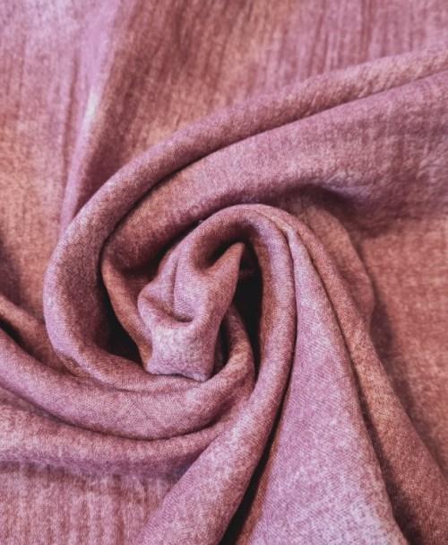 Organic Musselin glatt Batik, altrosé