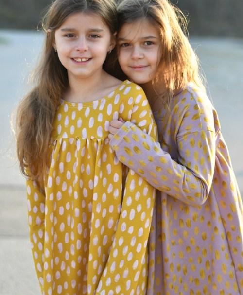 Modalsweat BRUSH COLOR #lovelyfavs by Cherry Picking, goldgelb/hellrosa