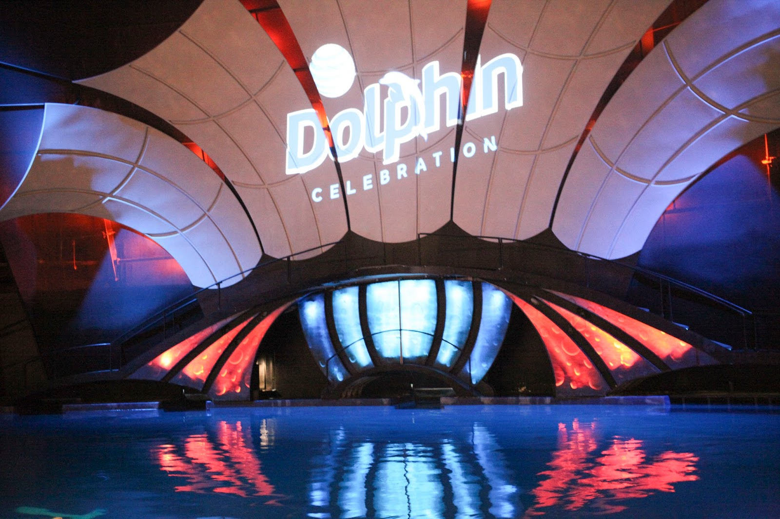 The Dolphin Show theater for the Georgia Aquarium
