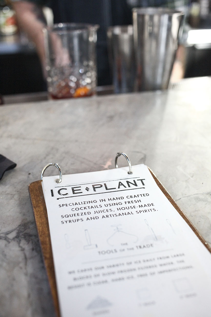 menu for The Ice Plant