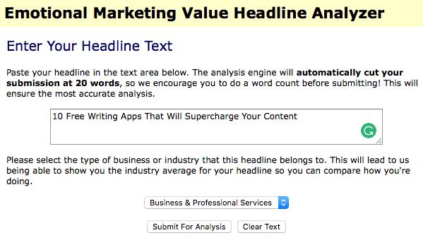 Emotional Headline Analyzer Screenshot