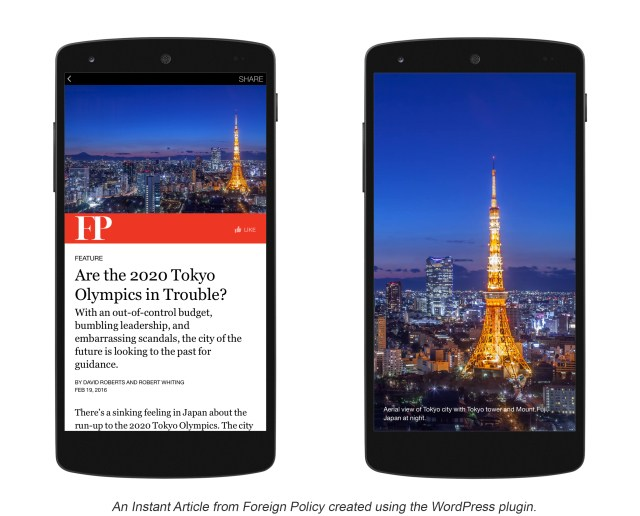 Example of Facebook Instant Articles