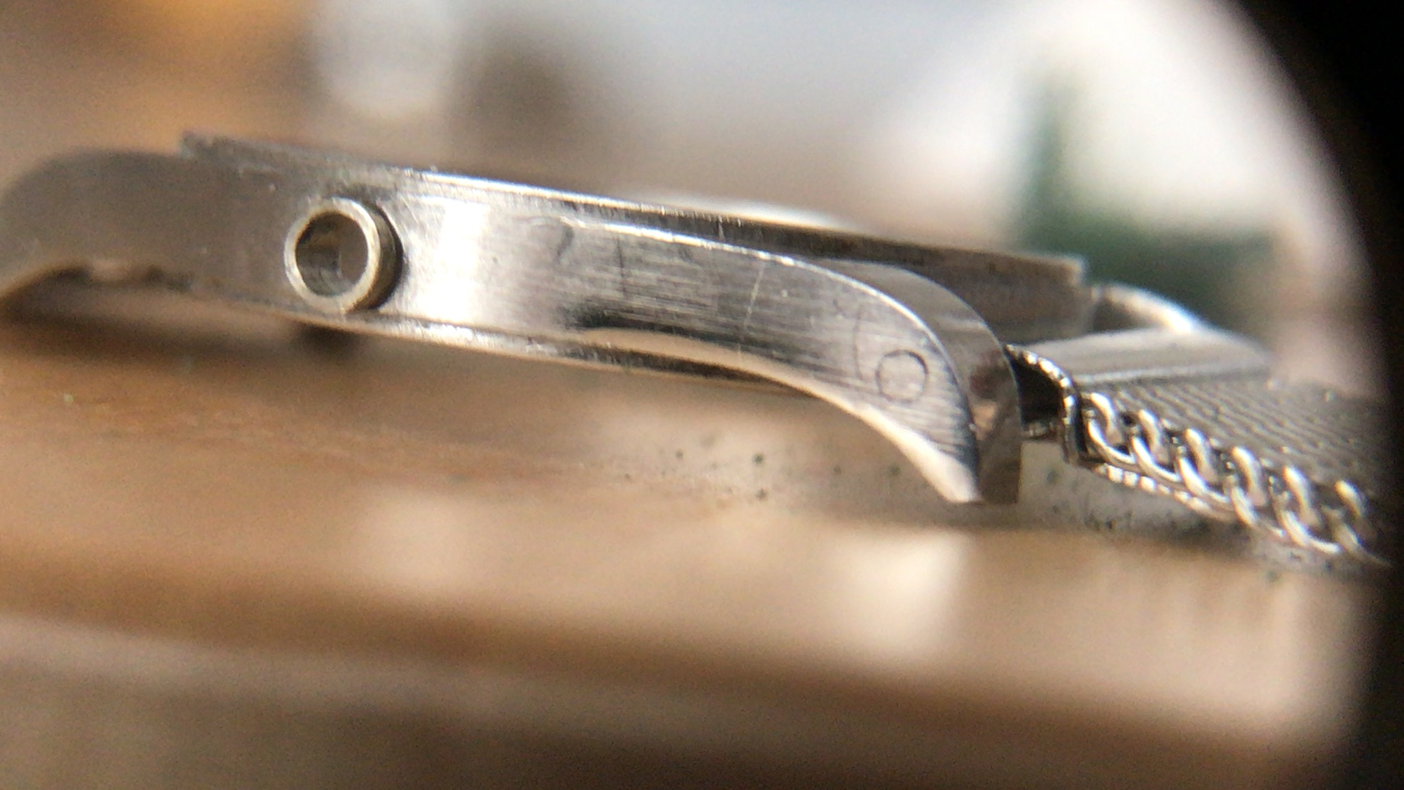 Boite de montre avant restauration, AMZ Horlogerie