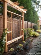 Awesome Fence With Evergreen Plants Landscaping Ideas 94