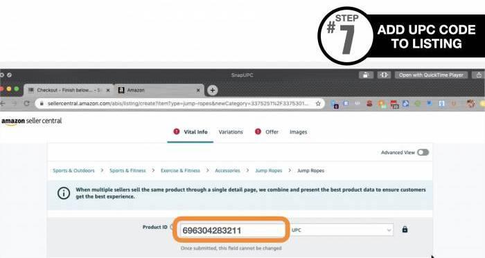 Amazon UPC Code - How to Step 7