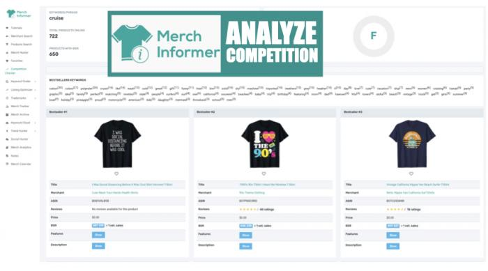 Merch Informer Competitor Tracking