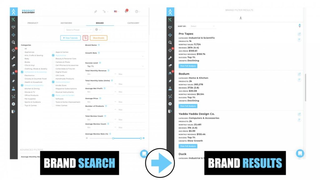 Viral Launch - Product Discovery Brand Search