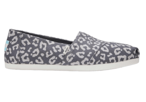 Grey Leopard Toms (Cruelty-Free Valentine's Day)