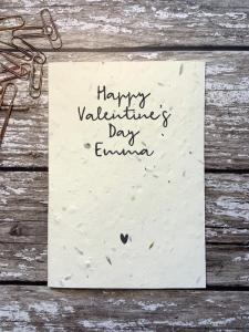 Personalised Valentine's Day Plantable Seed Card (Cruelty-Free Valentine's Day)