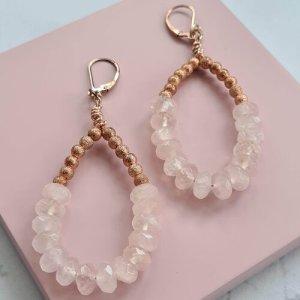 Rose Quartz Earrings Niyanta Shah Creations (Cruelty-Free Valentine's Day)