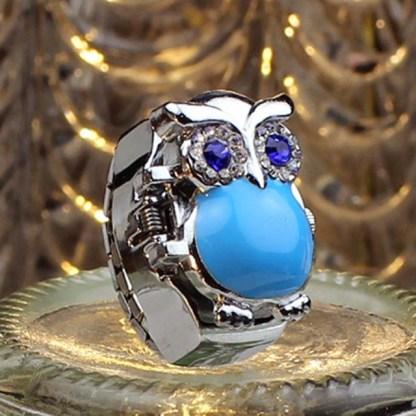 Retro Owl Finger Watch Ring Watch Women Fashion Jewelry