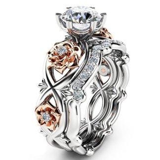 Beautiful Floral Women Fashion Jewelry Rings Set
