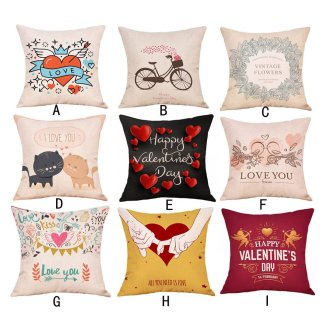 Heart Rose Pillow Case Cover Love Valentine